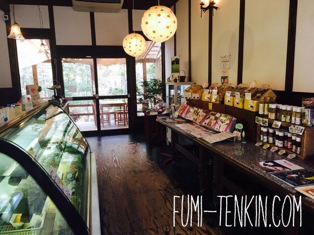 広島の牧場トムミルクファーム上ノ原チーズケーキ店内