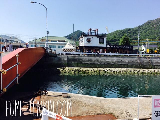 忠海港の売店