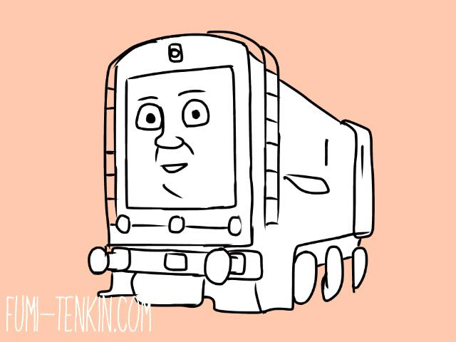 きかんしゃトーマスのディーゼル機関車ディーゼル