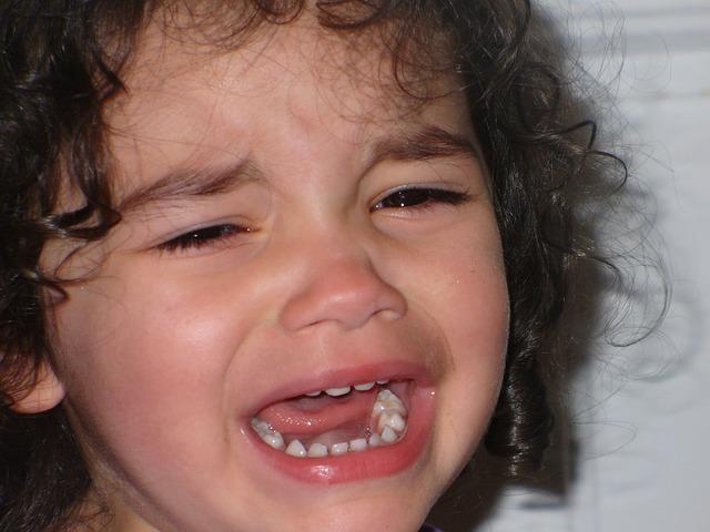 子供の唇の怪我で病院へ